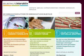 Screenshot der Website www.selbsthilfe-interaktiv.de