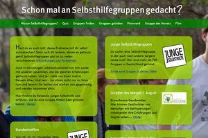 Screenshot www.schon-mal-an-selbsthilfegruppen-gedacht.de