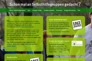 Screenshot der Website www.schon-mal-an-selbsthilfegruppen-gedacht.de
