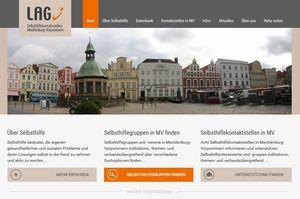 Screenshot der Website www.selbsthilfe-mv.de