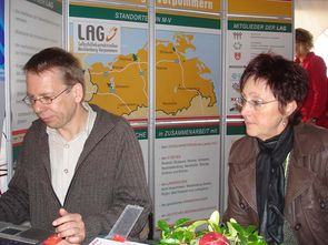 Ehrenamtsmesse 2007: Bernd Parlow (l) und Gudrun Schulze (r)