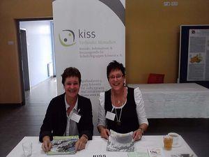 2013 - Krebsinformationstag im Campus am Zieglesee: Sabine Klemm (l.) und Gudrun Schulze (r.)