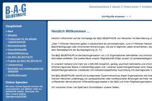 Screenshot www.bag-selbsthilfe.de