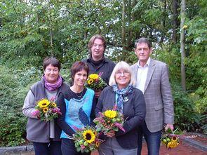 2012 - Vorstand des KISS SChwerin e.V: Gerlinde Haker, Michael Winter, Dr. Wolfgang Jähme, Grete von Kamptz, Antje Neuenfeld (v.l.n.r.)