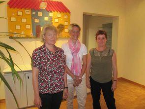 2014 - Sabine Klemm (r.) und Ute Kammler (l.) im Gespräch mit Sozialministerin Birgitt Hesse (m.)