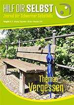 """Titelblatt des Selbsthilfejournals zum Thema """"Vergessen"""""""