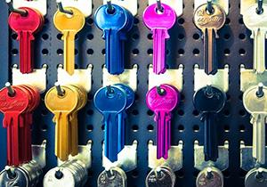 Ordentliches Schlüsselbrett